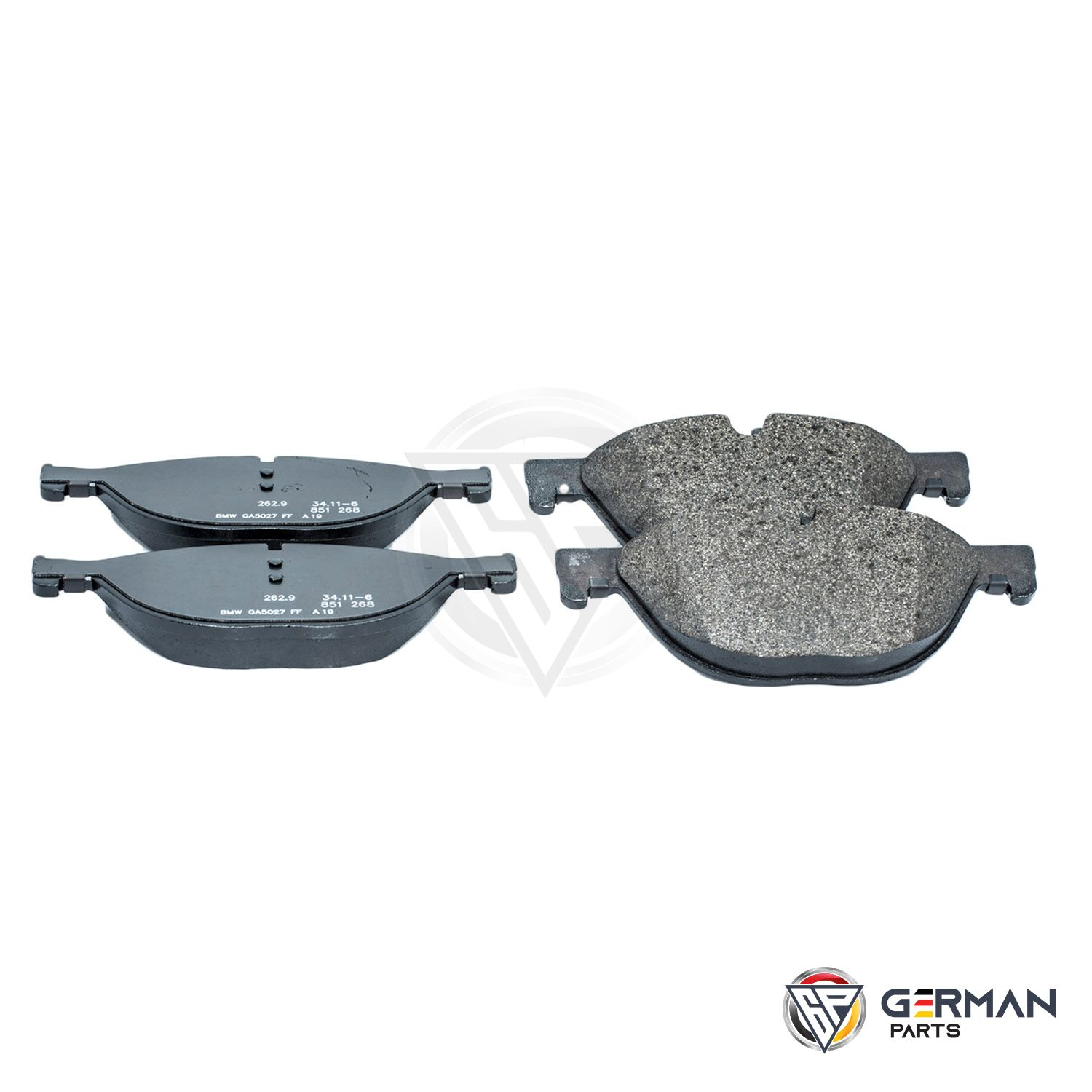 Buy Genuine BMW Front Brake Pad Set 34116851269 - German Parts
