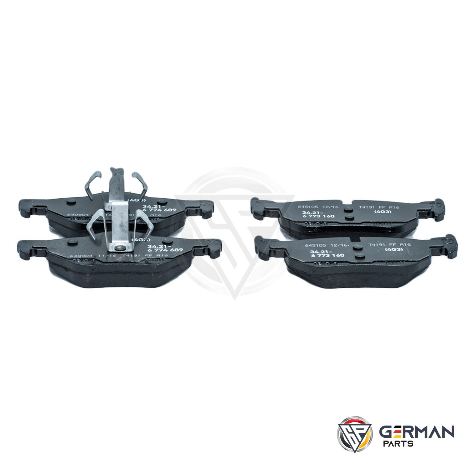 Buy Genuine BMW Rear Brake Pad Set 34216774692 - German Parts